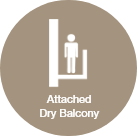 Attached Dry Balcony